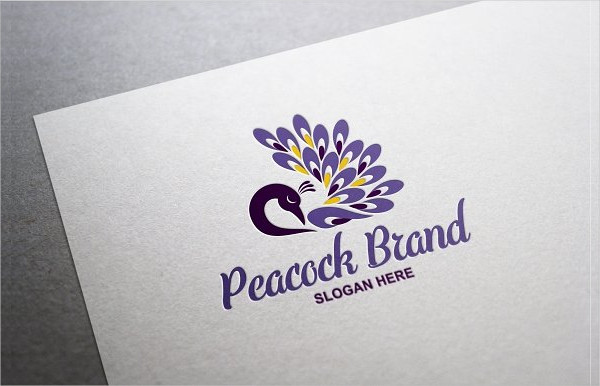 Fashion Peacock Brand Logo Template
