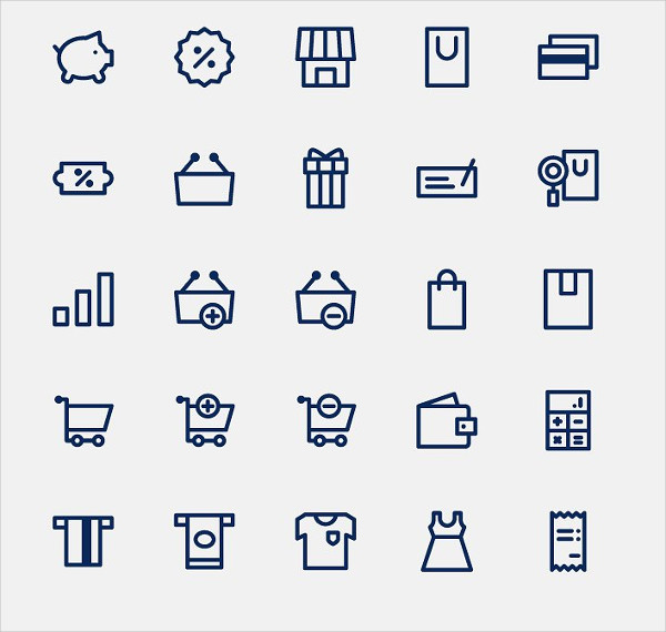 Vector Set of 100 Shopping & E-commerce Icons