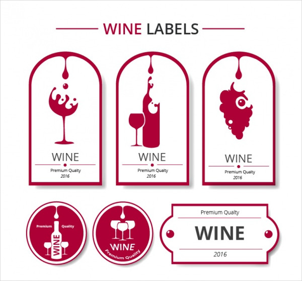 Free Red and White Wine Labels Collection