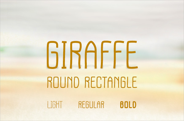 Giraffe Round Rectangle Font