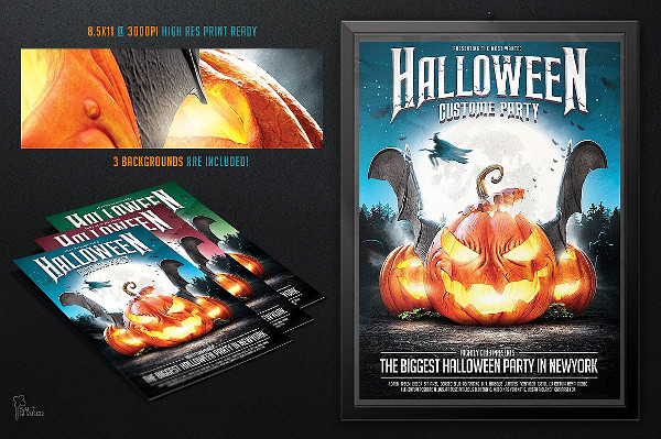 PSD Halloween Party Flyer Template