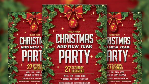 Holiday Party Flyer Template - 27+ Free & Premium Download