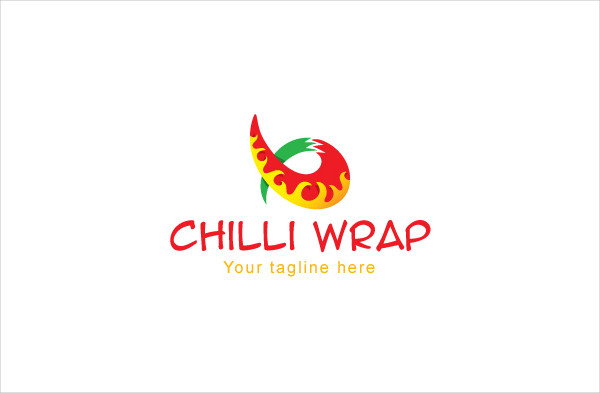 Hot & Spicy Food Stock Logo