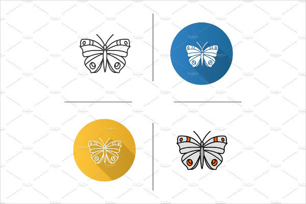 Isolated Vector Butterfly Icon
