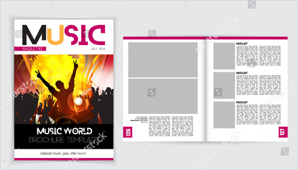 Layout Magazine Cover Template Vector