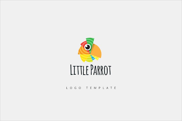 Little Parrot Logo Template