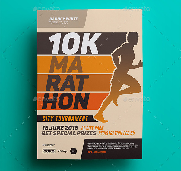 Marathon Charity Event Flyer Templates