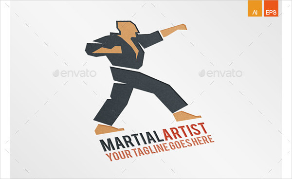Martial Artist Center Logo Design
