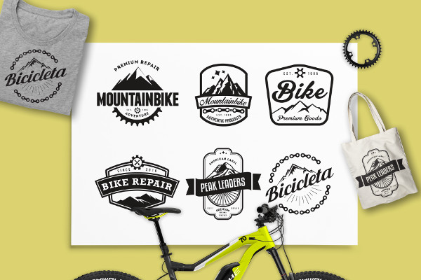 Mountain Bike Retro Logos Badge