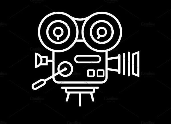 Old Style Movie Camera Icon