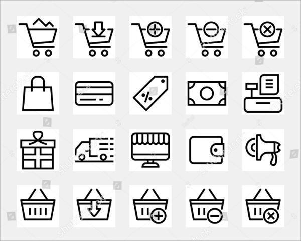 Set of E-commerce and Online Shopping Icons