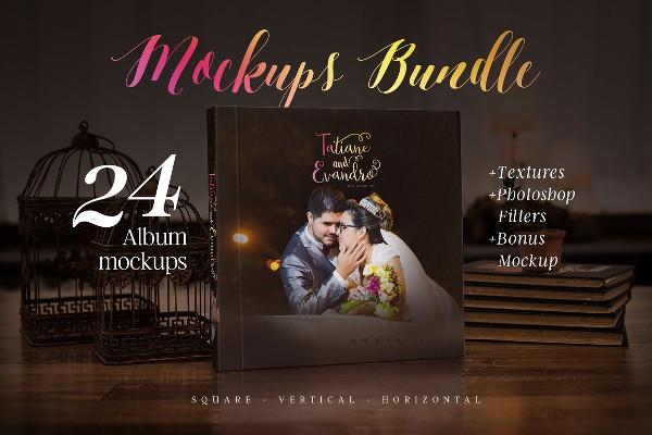 Photography Album Mockup Bundle