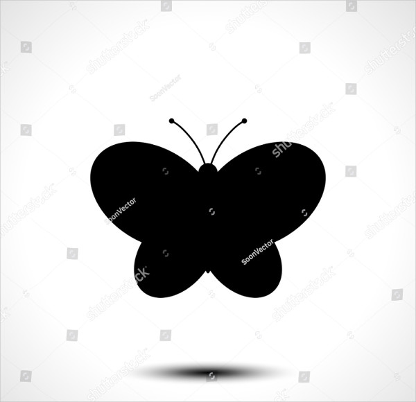 Silhouette Butterfly Icon
