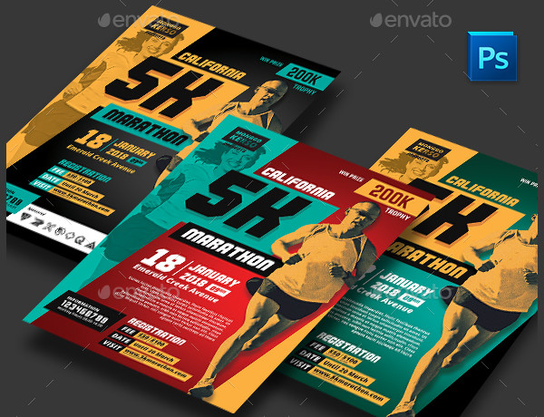 Simple Marathon Flyer Design