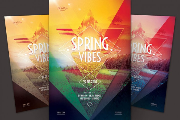 Spring Vibes Flyer Templates