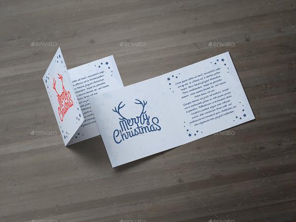 Square Greeting Card and Invitation Mockup