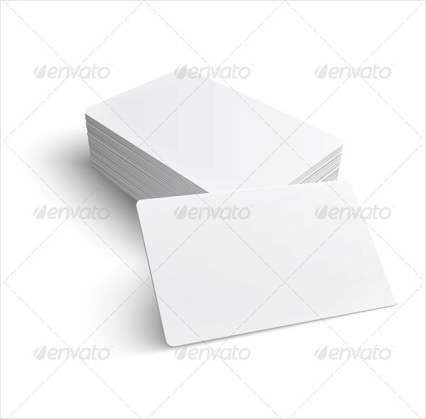 Stack of Blank Business Card Template