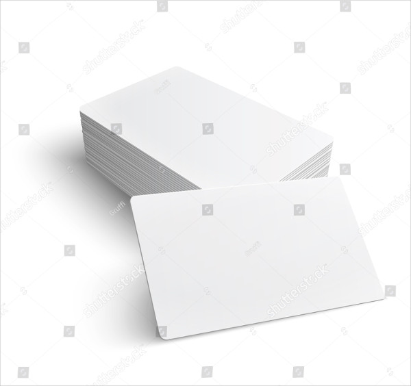 Set of Blank Business Cards on White Background
