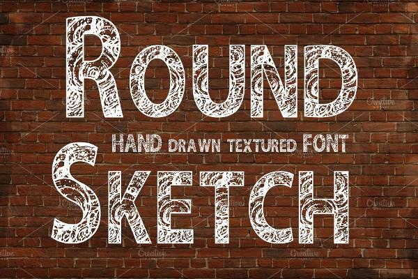 Stylish Round Sketch Font