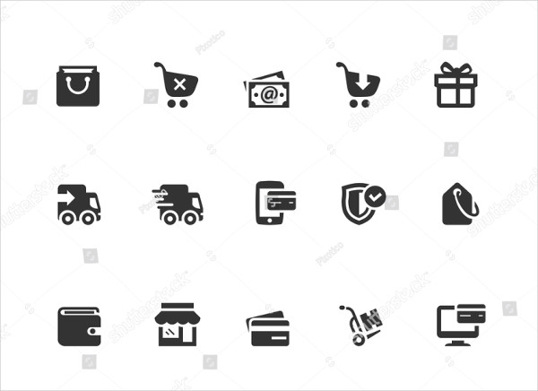 Shopping and Ecommerce Icons Illustration