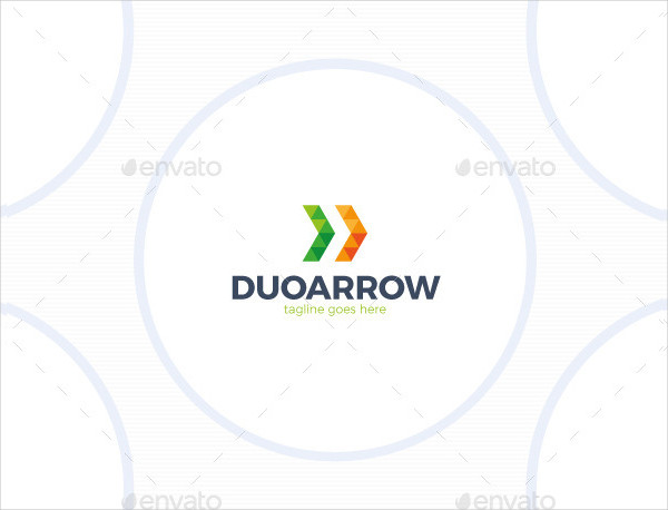 Two Triangle Arrows Logo Template