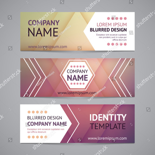 Vector Company Banners with Blurred Background