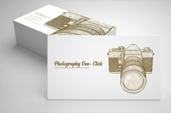 Vintage Retro Photography Business Cards