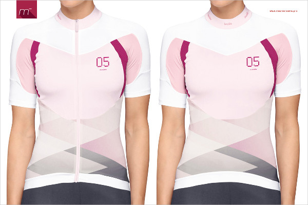 Women Bike Jersey on Model Mock-up