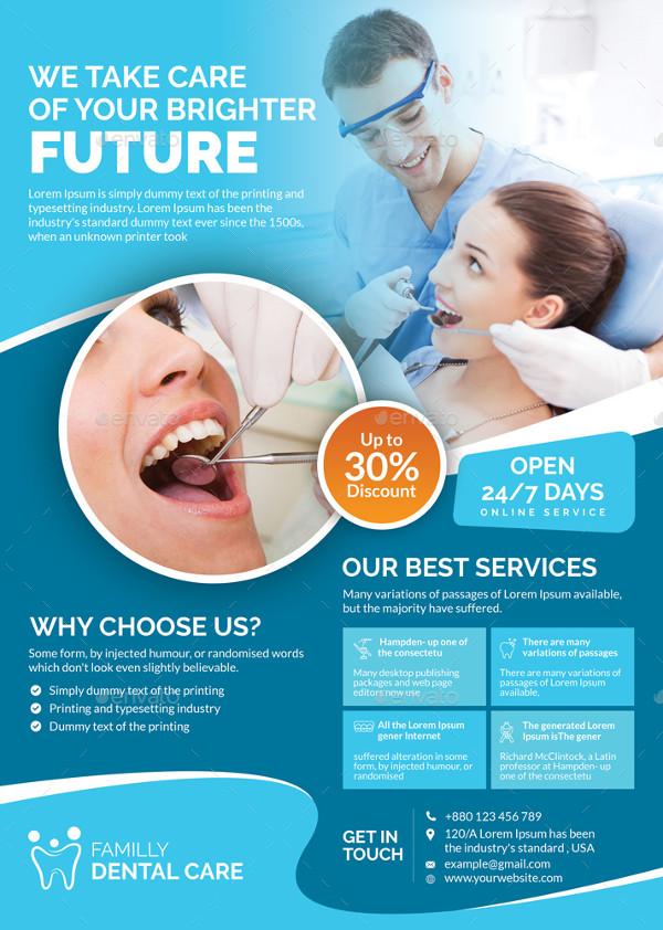 Clean Dental Hospital Flyer Design