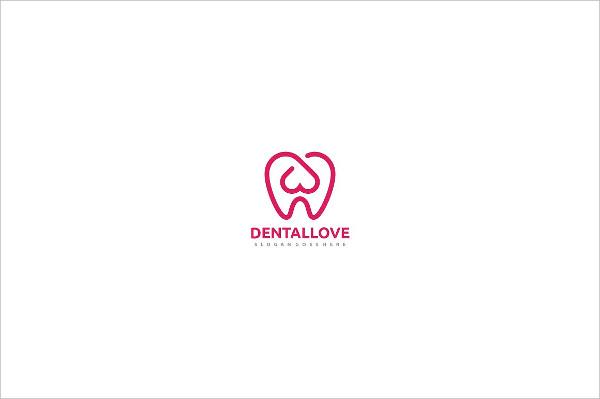 Dental Love Logo Template
