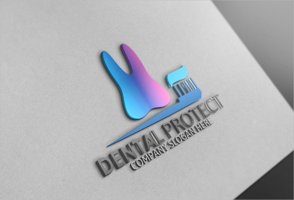 Clean Dental Protect Logo Template