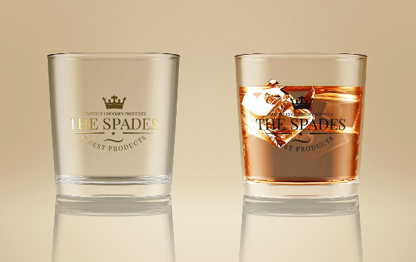 Easy to Edit Whiskey Glass Mock-Up