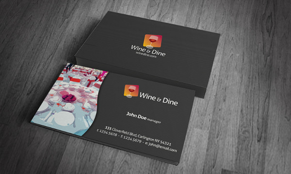 Free Download Catering Company Business Card