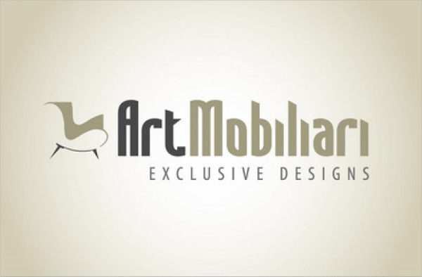 Furniture Stylish Logo Design Free Download