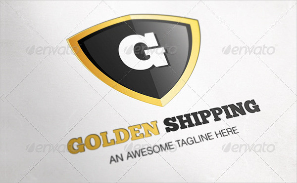 Golden Shipping Letter Logo Design