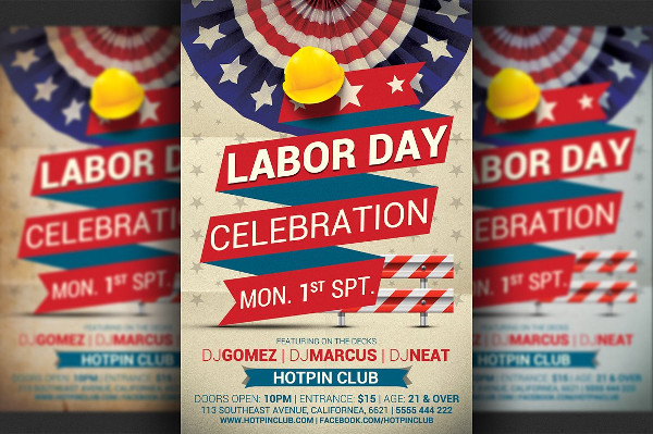 Labor's Day Promotion Flyer Template
