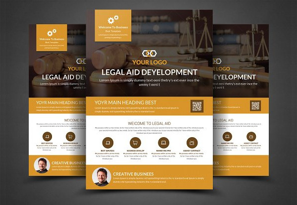 Fully Editable Lawyer Firm Business Flyer Template