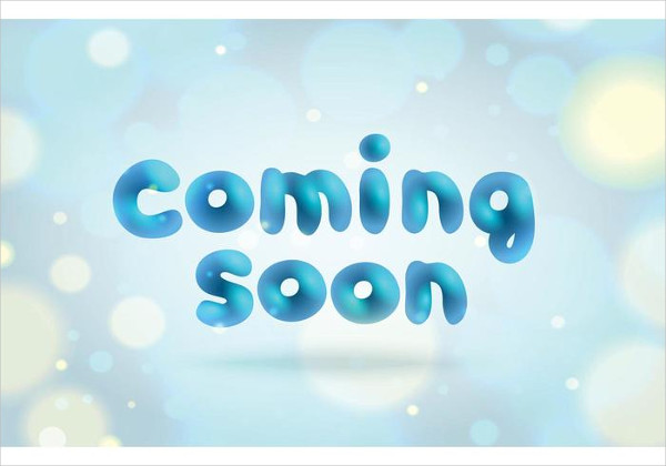 Free Coming Soon Page Template Vector