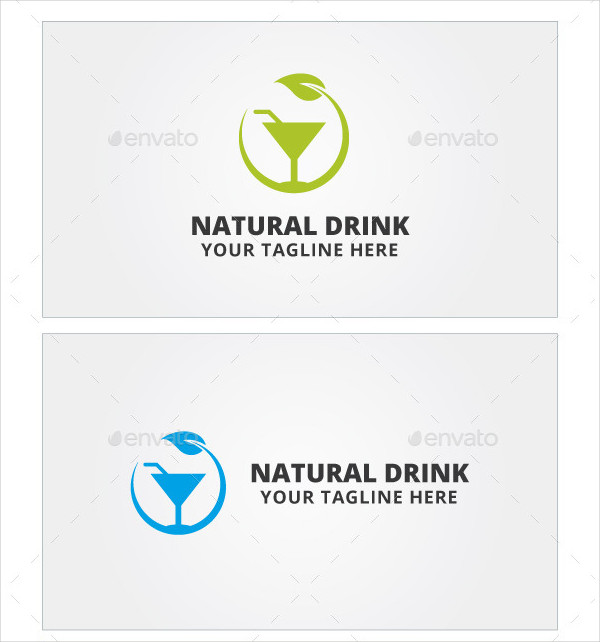Natural Drink Logo Template