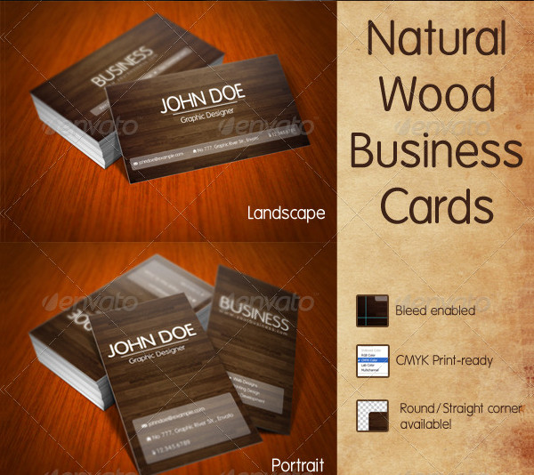Popular Nature Wood Business Card Template