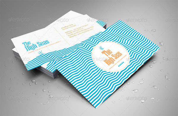 Professional Hotel or Beach Resort Business Card Template