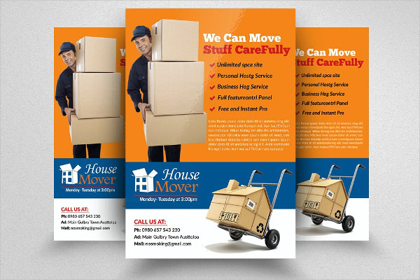 Modern Moving House Services Flyers