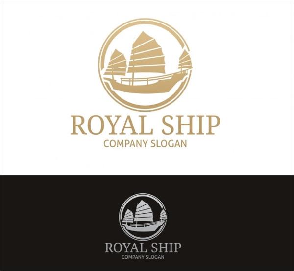 Royal Ship Logo Design Free Download