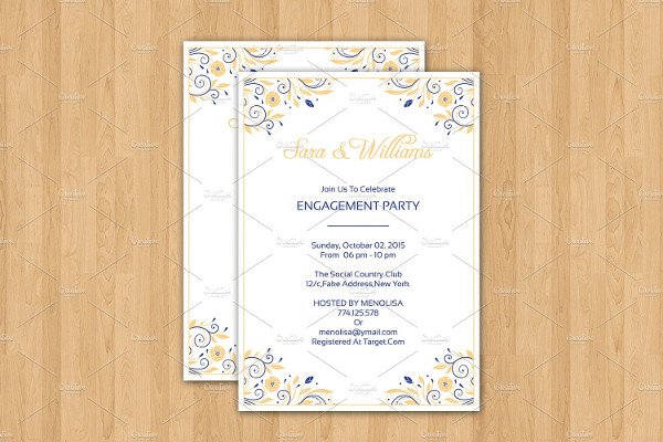 Invitation Template InDesign and MS Word Template