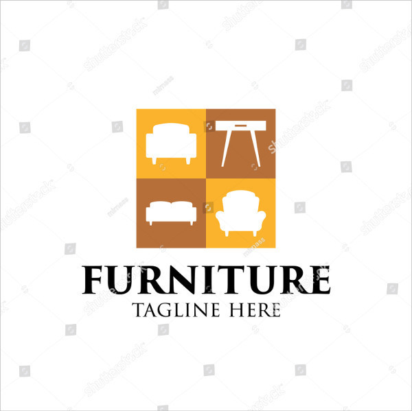 Simple Furniture Company Logo Design Template