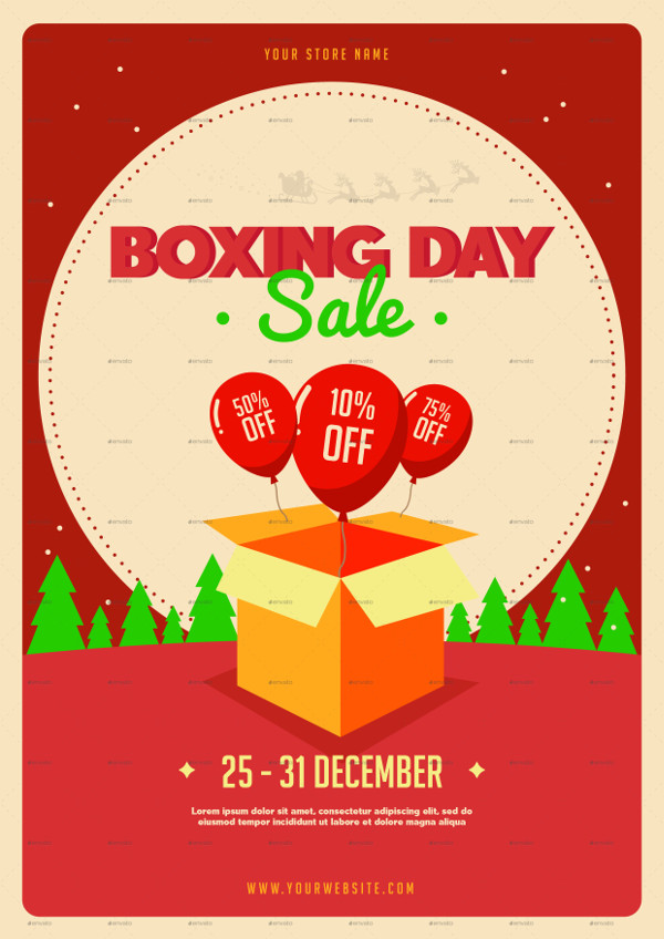 Special Boxing Day Sale Flyer Template
