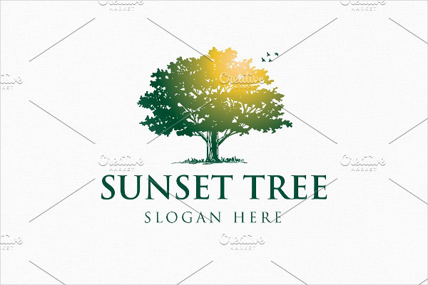 Sunset Tree Logo with Two Version
