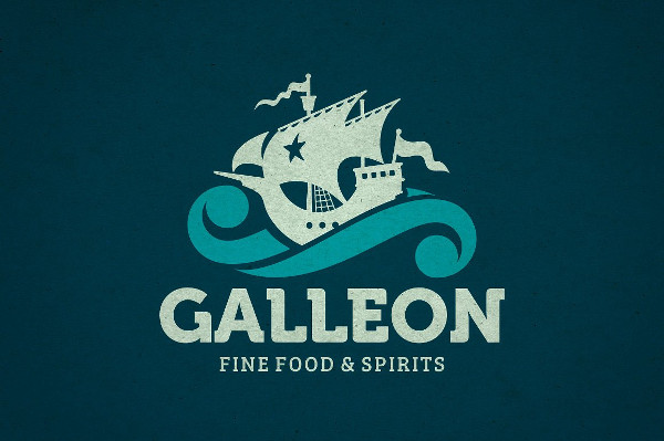Vintage Galleon Logo Template