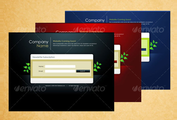 Website Coming Soon Page Templates