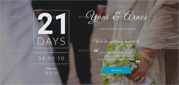 Wedding Coming Soon Page Template